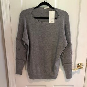 moëwy Sweaters - Gray trendy sweater from Italy